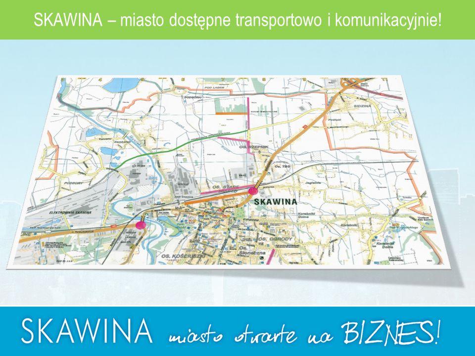 SKAWINA – miasto dostępne transportowo i komunikacyjnie!