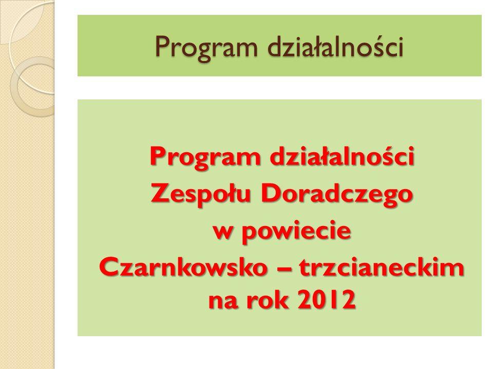 Program działalności Zespołu Doradczego w powiecie Czarnkowsko – trzcianeckim na rok 2012