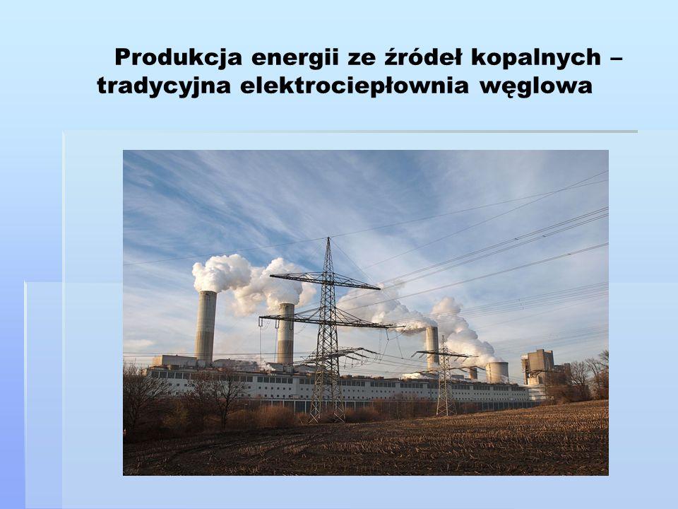 Produkcja energii ze źródeł kopalnych – tradycyjna elektrociepłownia węglowa