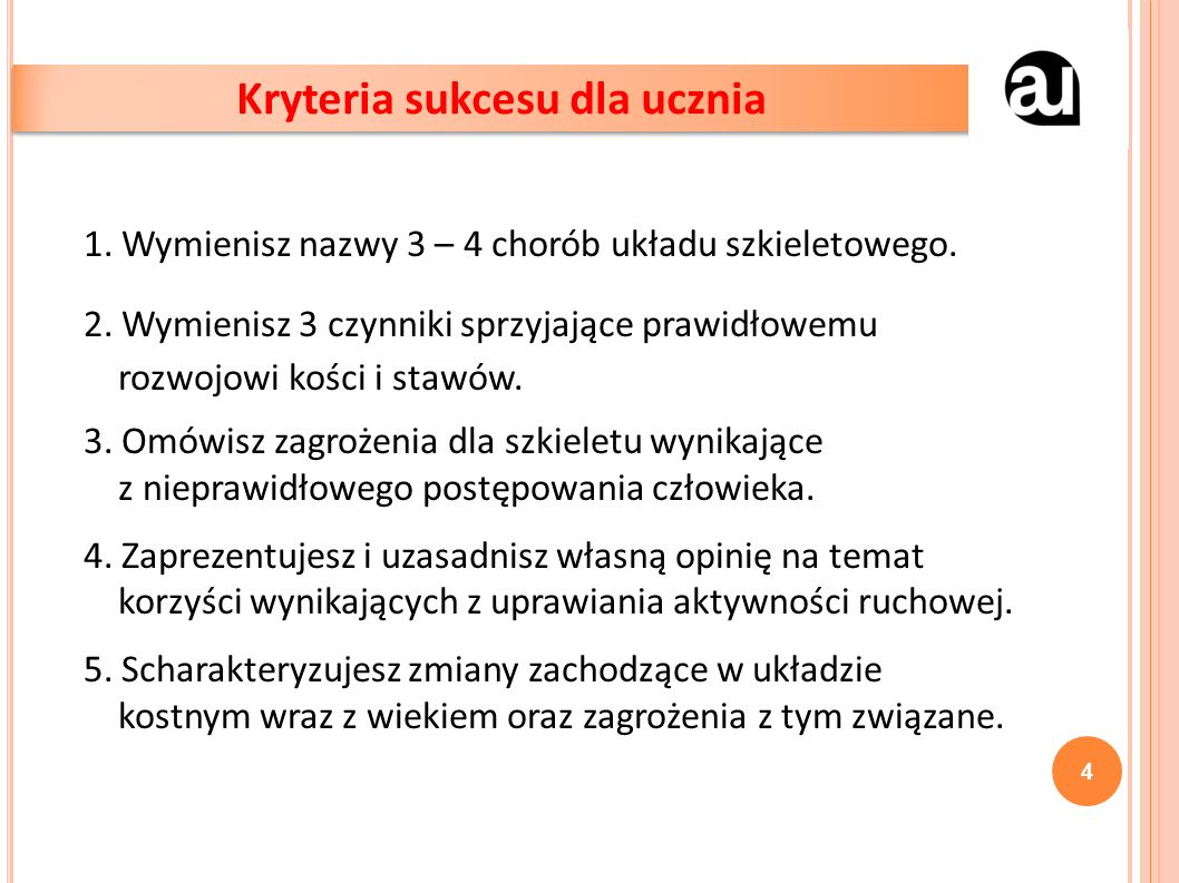 1. Wymienisz nazwy 3 – 4 chorób układu szkieletowego.