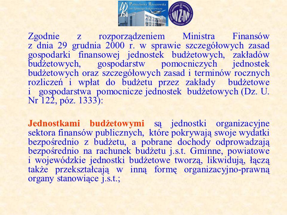Zgodnie z rozporządzeniem Ministra Finansów z dnia 29 grudnia 2000 r.