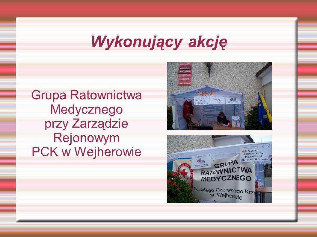 Wykonujący akcję Grupa Ratownictwa Medycznego przy Zarządzie Rejonowym PCK w Wejherowie