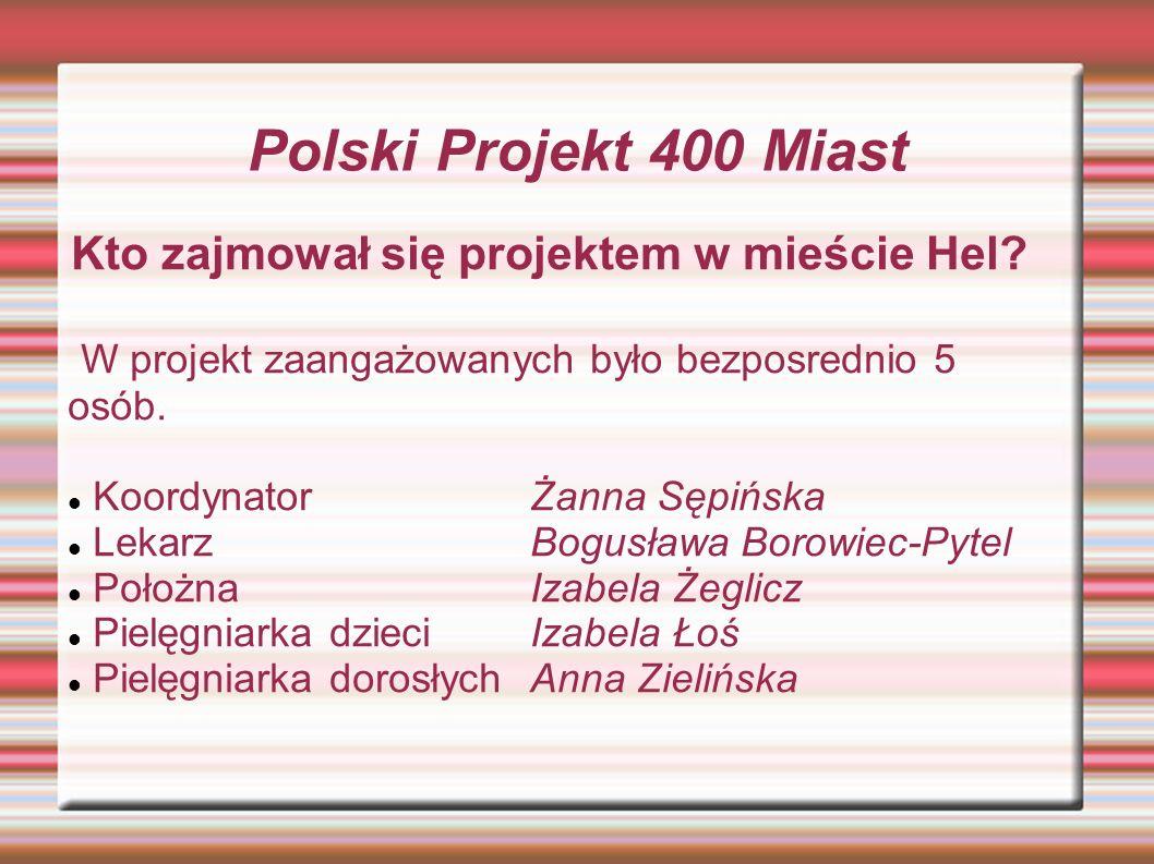 Polski Projekt 400 Miast Kto zajmował się projektem w mieście Hel.