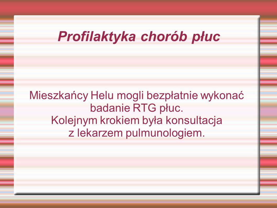 Profilaktyka chorób płuc Mieszkańcy Helu mogli bezpłatnie wykonać badanie RTG płuc.