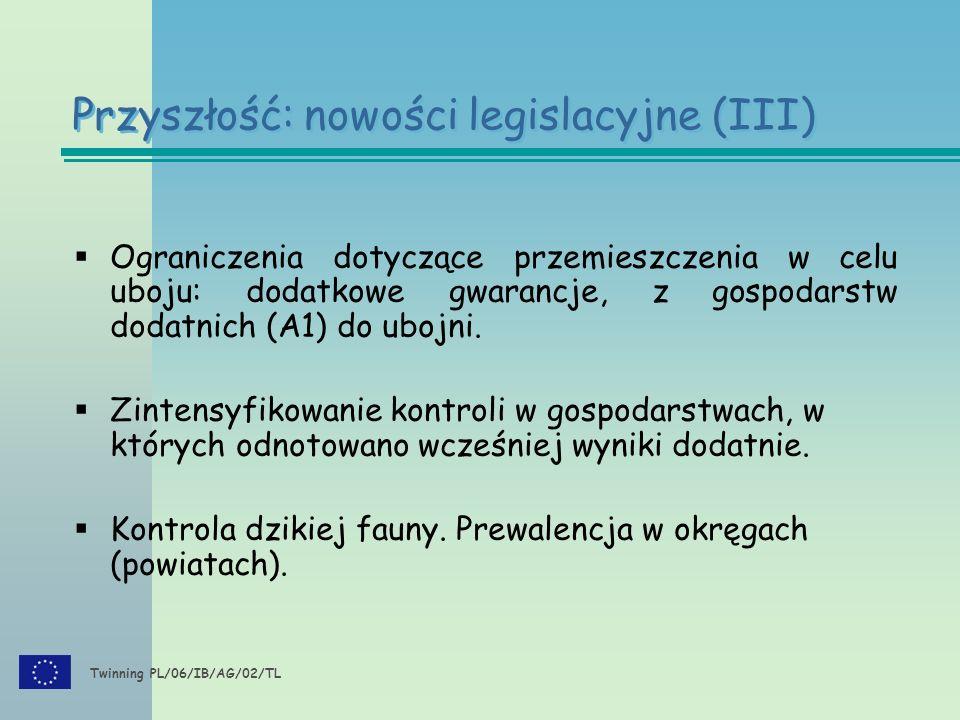 Twinning PL/06/IB/AG/02/TL  Ograniczenia dotyczące przemieszczenia w celu uboju: dodatkowe gwarancje, z gospodarstw dodatnich (A1) do ubojni.