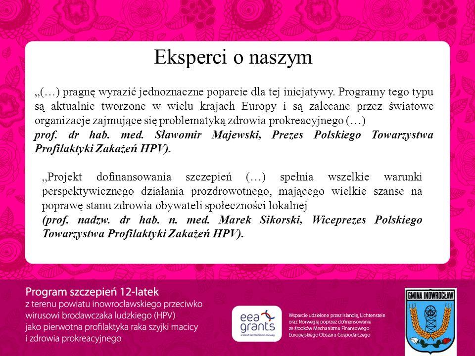 """Eksperci o naszym projekcie: """"(…) pragnę wyrazić jednoznaczne poparcie dla tej inicjatywy. Programy tego typu są aktualnie tworzone w wielu krajach Eu"""