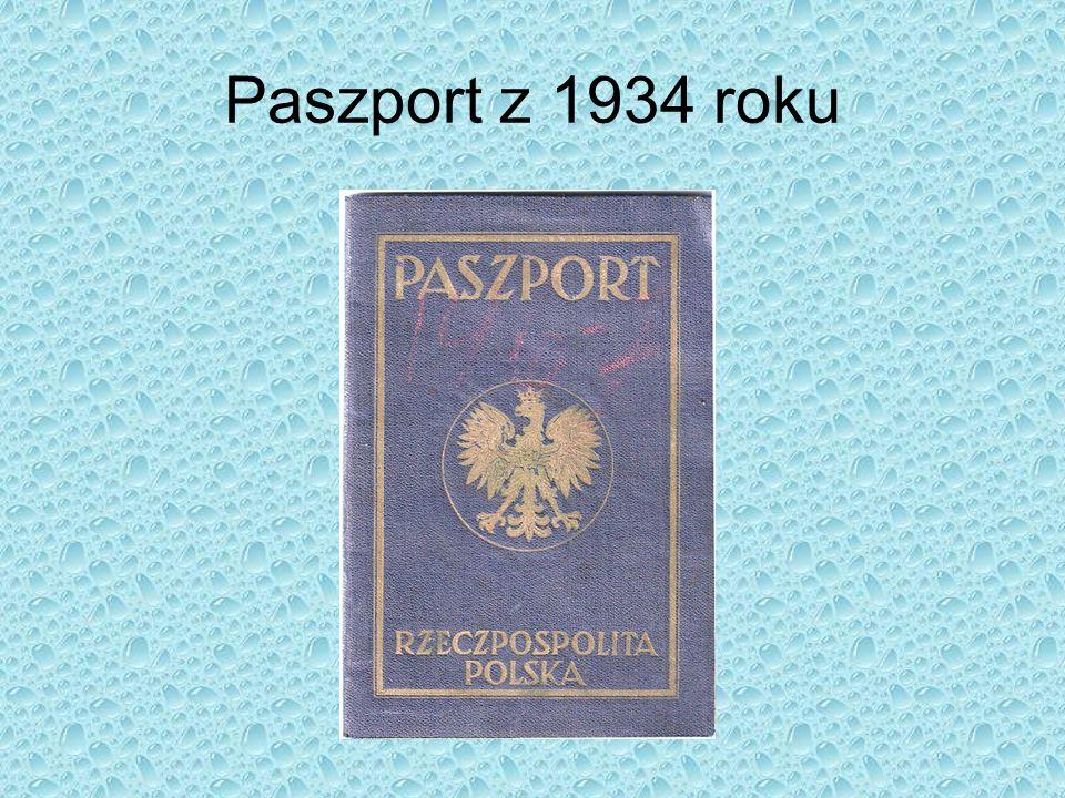 Paszport z 1934 roku