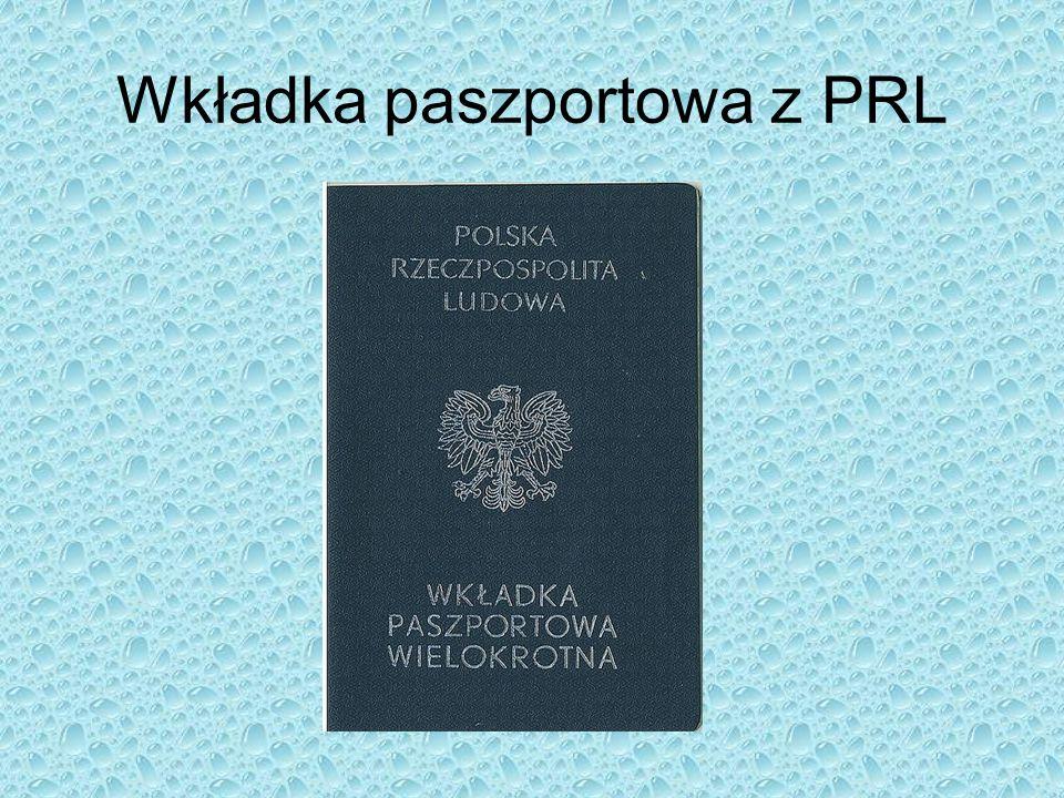 Wkładka paszportowa z PRL