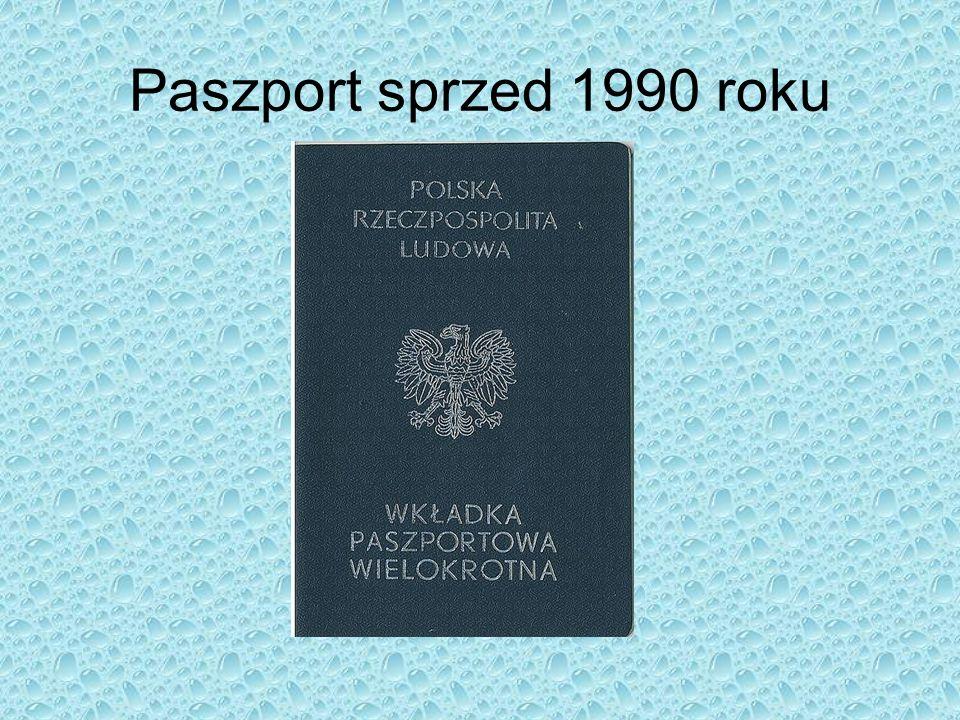 Paszport sprzed 1990 roku