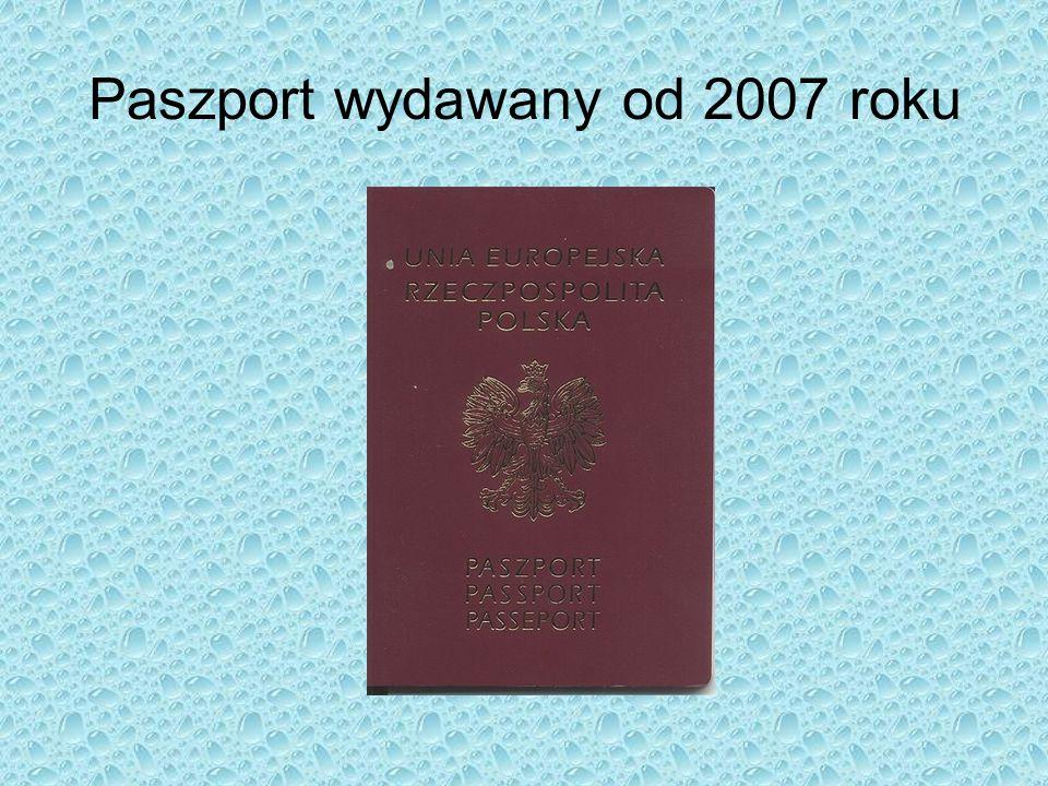 Paszport wydawany od 2007 roku