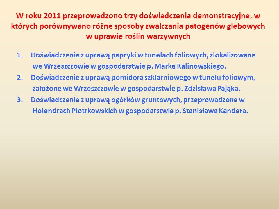 Średnia liczba zawiązków owoców na roślinie papryki (11.06.2011) Wariant W 1.