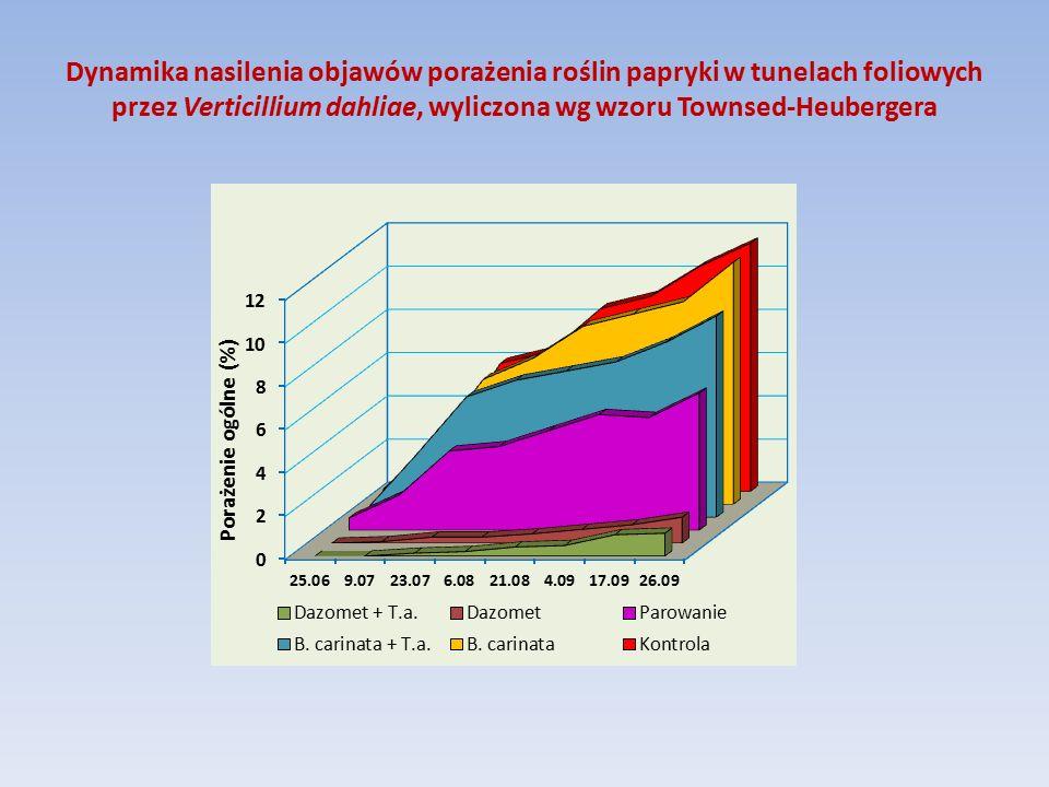 Wpływ odkażania gleby i szczepienia rozsady pomidora na średnią liczbę owoców w pierwszym i drugim gronie Sposób odkażania gleby Rośliny szczepioneRośliny nieszczepione Zwiększenie liczby owoców po szczepieniu (%) I gronoII gronoI gronoII gronoI gronoII grono Basamid 40 g/m 2 8,66,77,55,614,719,6 Basamid 30 g/m 2 8,76,87,35,319,228,3 Bez odkażania8,86,86,45,037,536,0