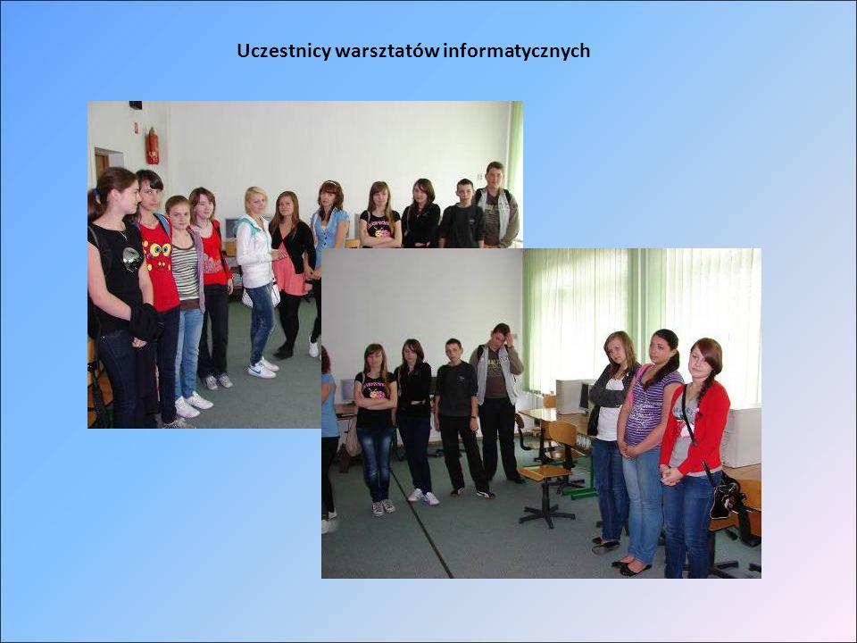 Uczestnicy warsztatów informatycznych
