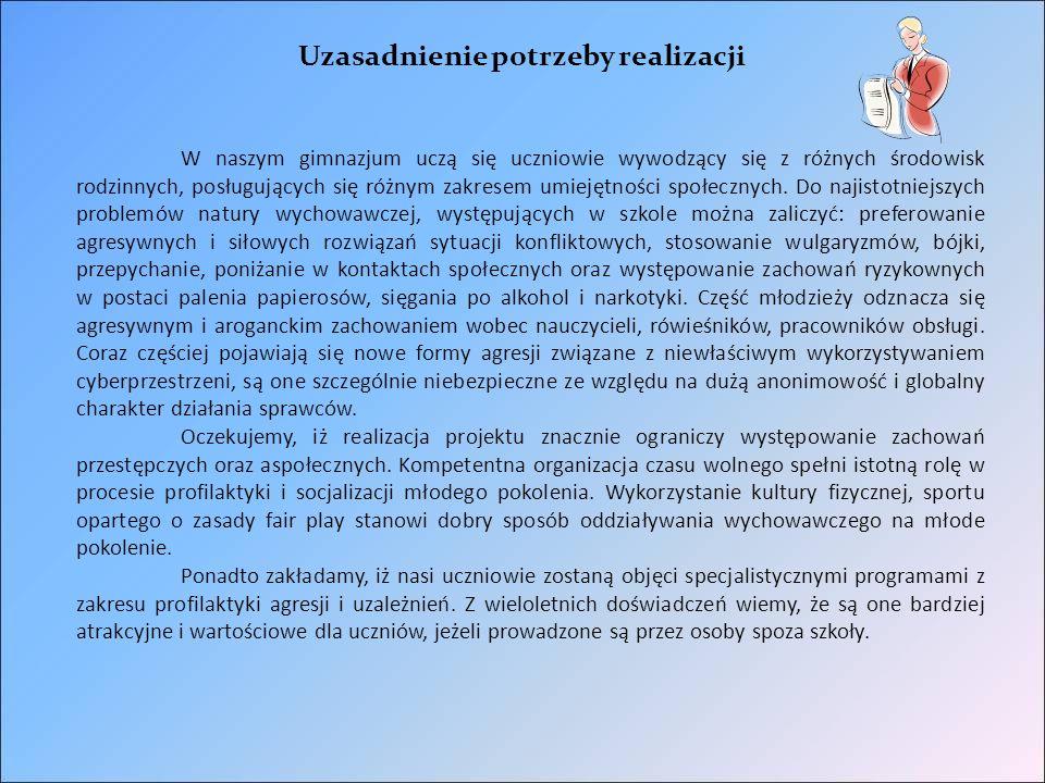 Instytucje zaangażowane w realizację projektu.Fundacja Pedagogium Warszawa ul.