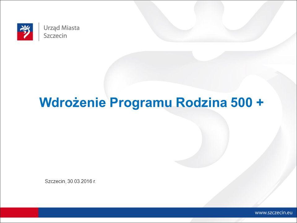 Wdrożenie Programu Rodzina 500 + Szczecin, 30.03.2016 r.
