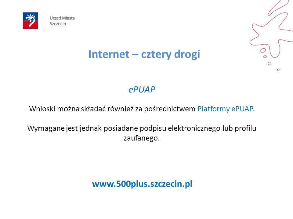 ePUAP Wnioski można składać również za pośrednictwem Platformy ePUAP.