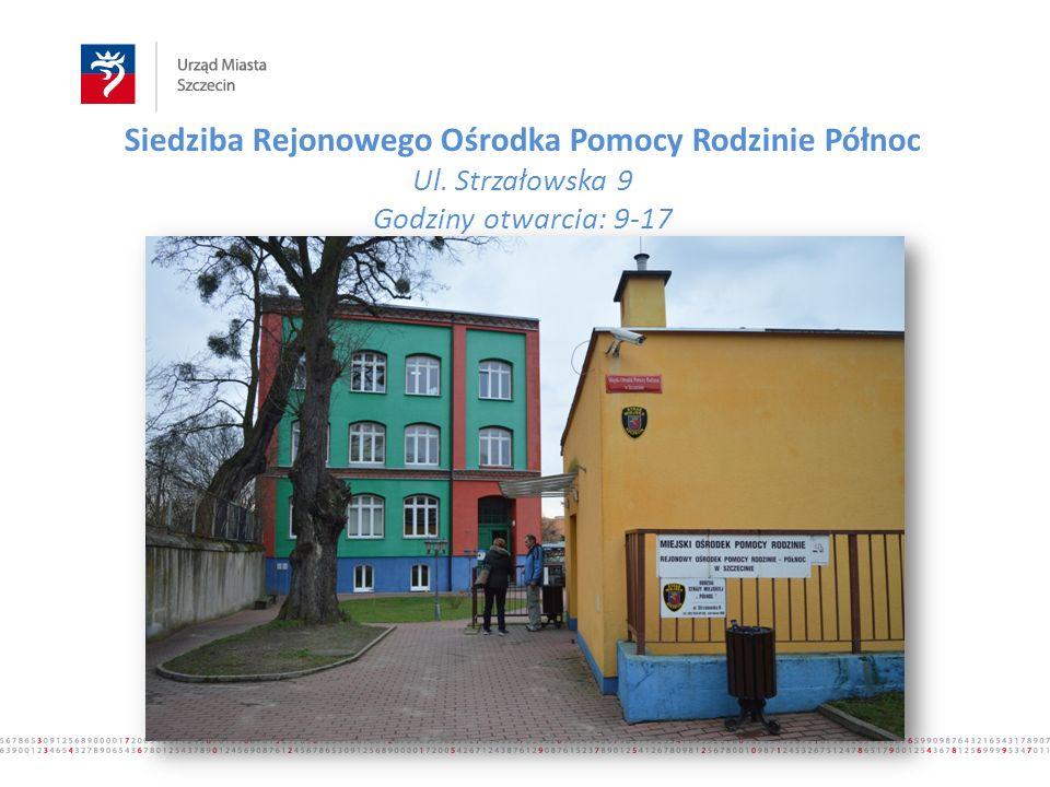 Siedziba Rejonowego Ośrodka Pomocy Rodzinie Północ Ul. Strzałowska 9 Godziny otwarcia: 9-17 www.500plus.szczecin.pl