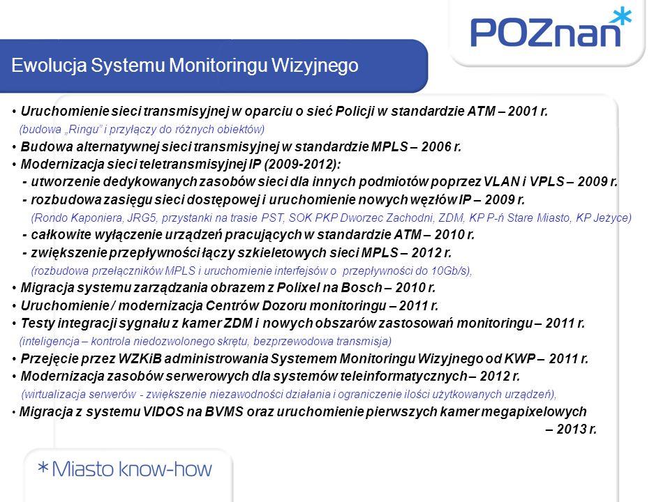 Uruchomienie sieci transmisyjnej w oparciu o sieć Policji w standardzie ATM – 2001 r.