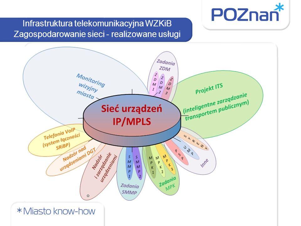 Infrastruktura telekomunikacyjna WZKiB Zagospodarowanie sieci - realizowane usługi