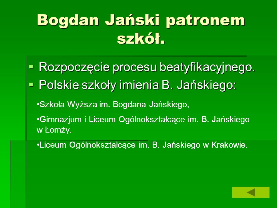 Bogdan Jański patronem szkół. Rozpoczęcie procesu beatyfikacyjnego.