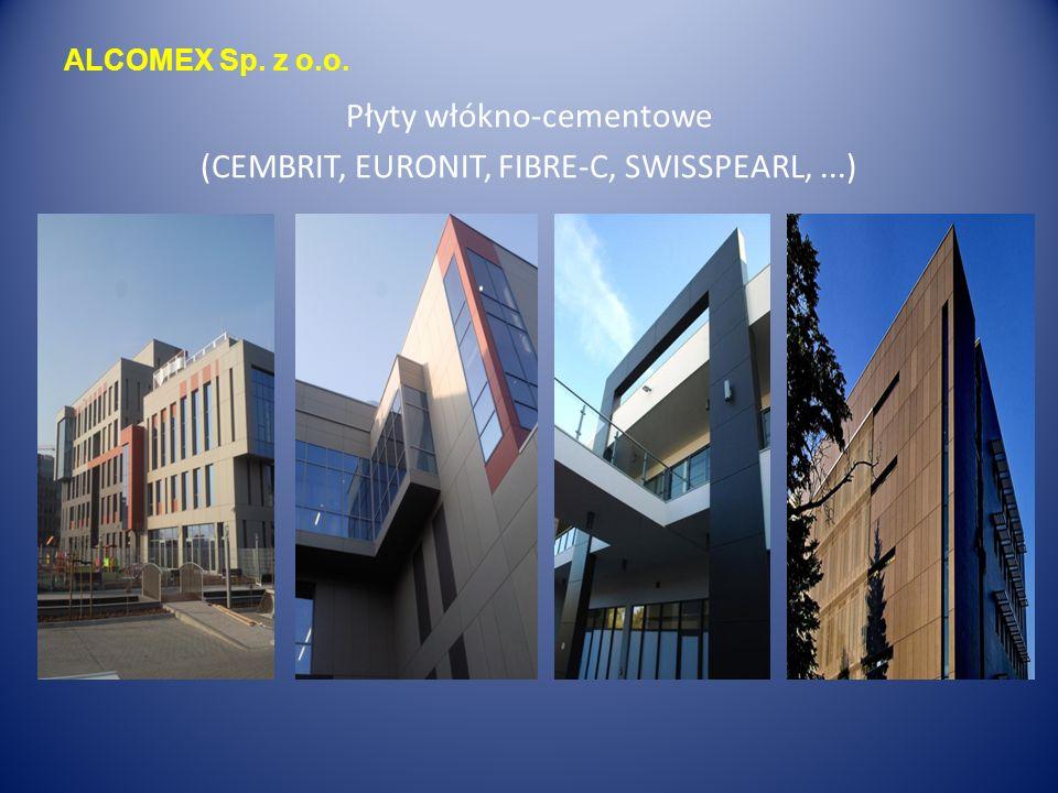 ALCOMEX Sp. z o.o. Płyty włókno-cementowe (CEMBRIT, EURONIT, FIBRE-C, SWISSPEARL,...)