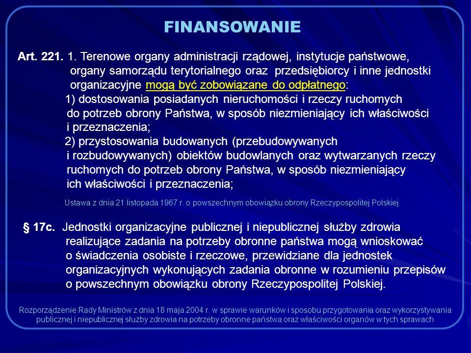 FINANSOWANIE Art. 221. 1.