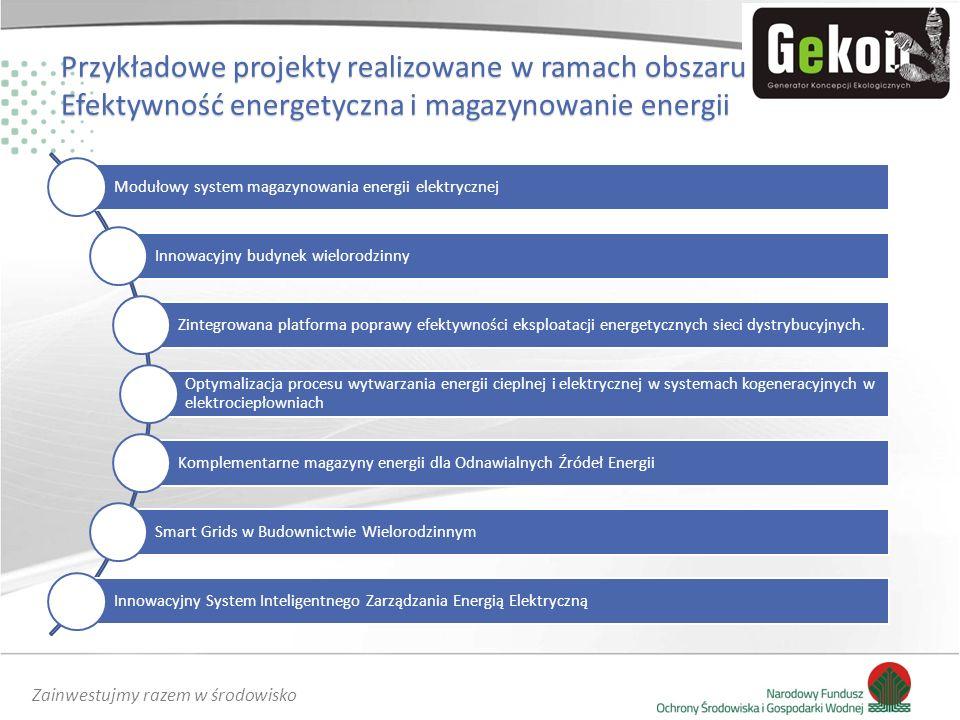Modułowy system magazynowania energii elektrycznej Innowacyjny budynek wielorodzinny Zintegrowana platforma poprawy efektywności eksploatacji energety
