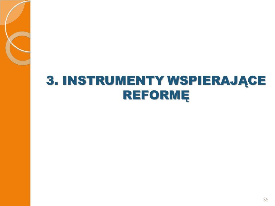 3. INSTRUMENTY WSPIERAJĄCE REFORMĘ 35