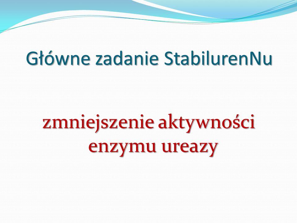 Główne zadanie StabilurenNu zmniejszenie aktywności enzymu ureazy