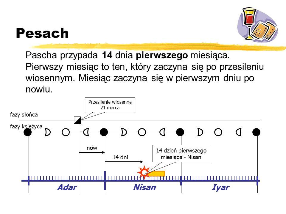 Pesach Pascha przypada 14 dnia pierwszego miesiąca.