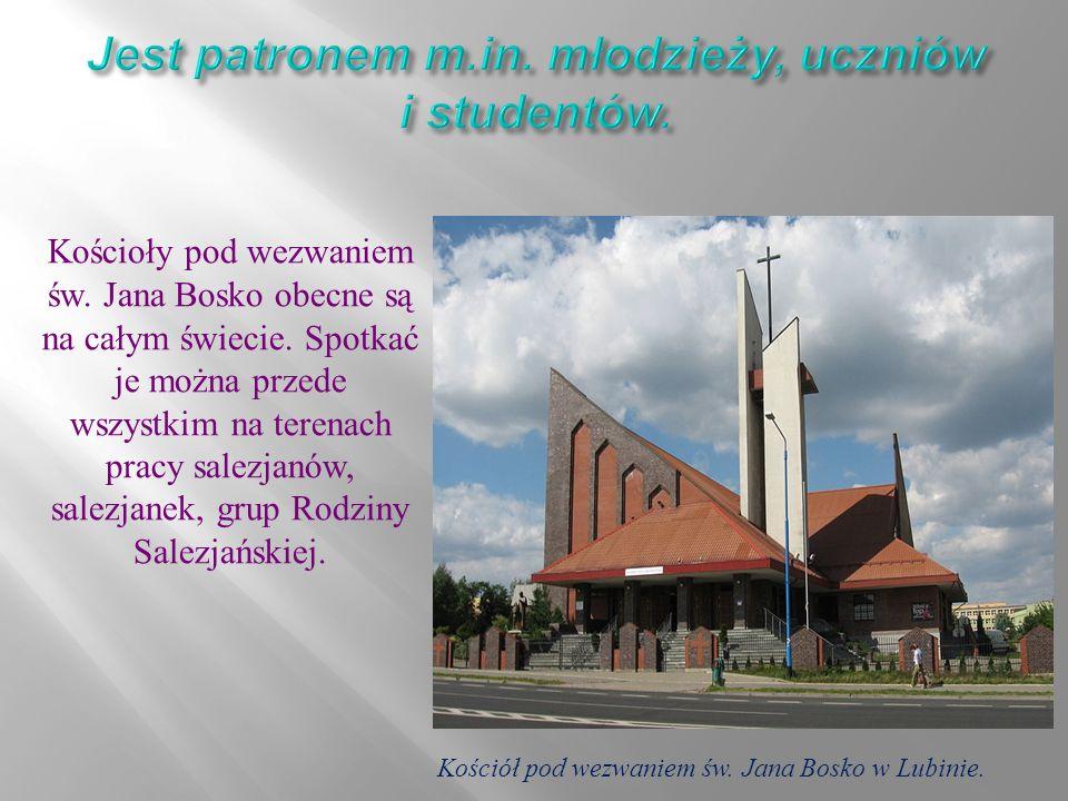 Kościoły pod wezwaniem św. Jana Bosko obecne są na całym świecie.
