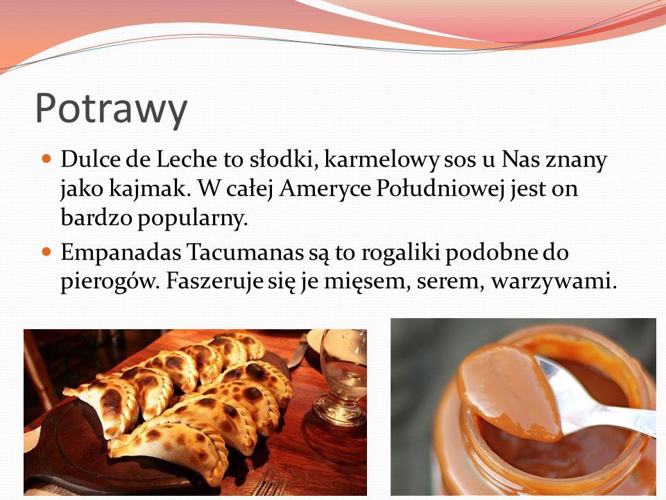 Potrawy Dulce de Leche to słodki, karmelowy sos u Nas znany jako kajmak. W całej Ameryce Południowej jest on bardzo popularny. Empanadas Tacumanas są