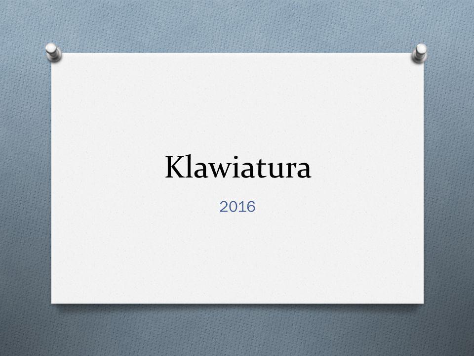 Klawiatura 2016