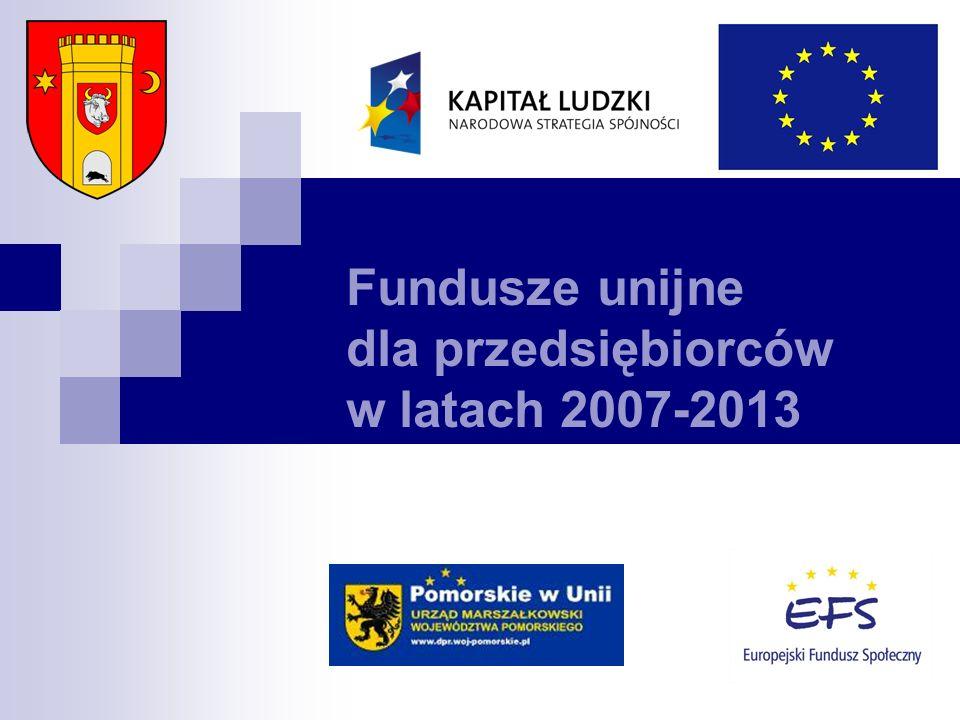 Fundusze unijne dla przedsiębiorców w latach 2007-2013