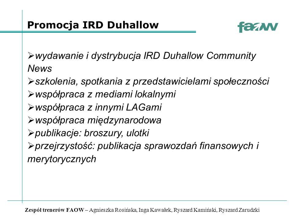 Zespół trenerów FAOW – Agnieszka Rosińska, Inga Kawałek, Ryszard Kamiński, Ryszard Zarudzki Jak wygląda sukces IRD Duhallow.