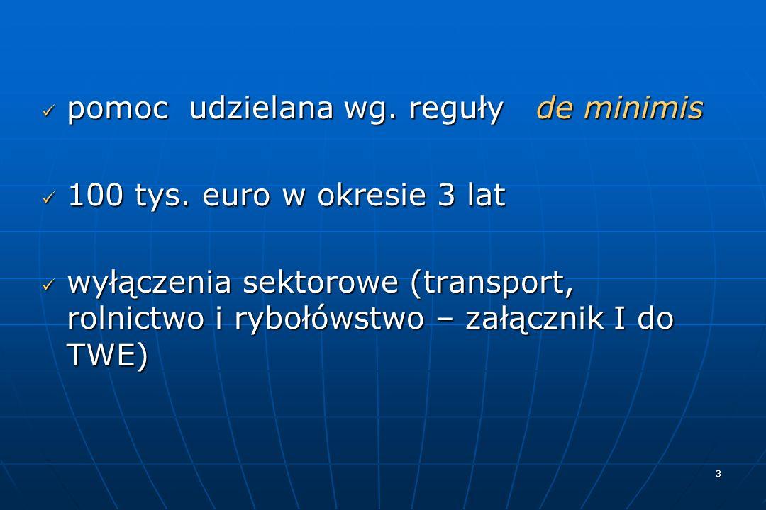 3 pomoc udzielana wg. reguły de minimis pomoc udzielana wg.