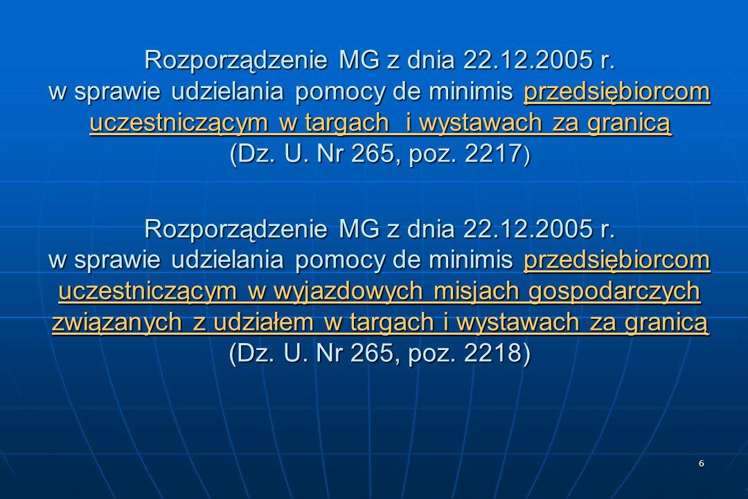 6 Rozporządzenie MG z dnia 22.12.2005 r.
