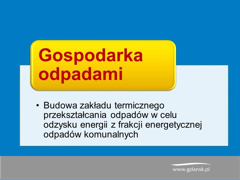 PGN dla GOM- harmonogram Budowa zakładu termicznego przekształcania odpadów w celu odzysku energii z frakcji energetycznej odpadów komunalnych Gospodarka odpadami