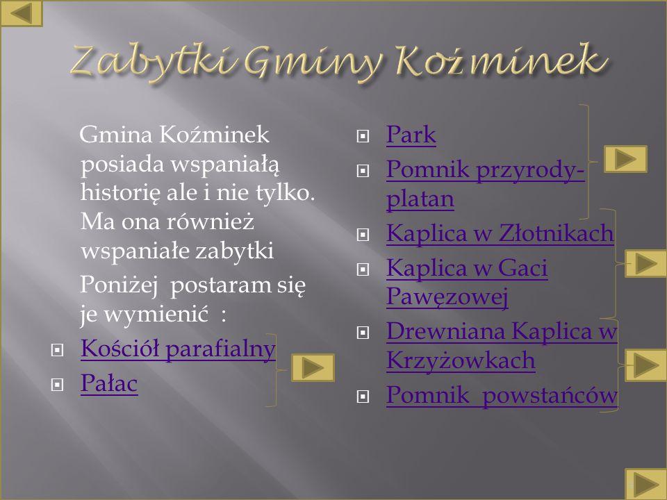 Gmina Koźminek posiada wspaniałą historię ale i nie tylko.