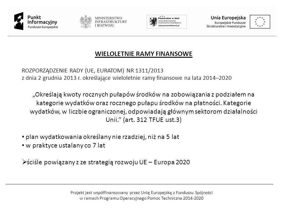 Projekt jest współfinansowany przez Unię Europejską z Funduszu Spójności w ramach Programu Operacyjnego Pomoc Techniczna 2014-2020 WIELOLETNIE RAMY FINANSOWE ROZPORZĄDZENIE RADY (UE, EURATOM) NR 1311/2013 z dnia 2 grudnia 2013 r.