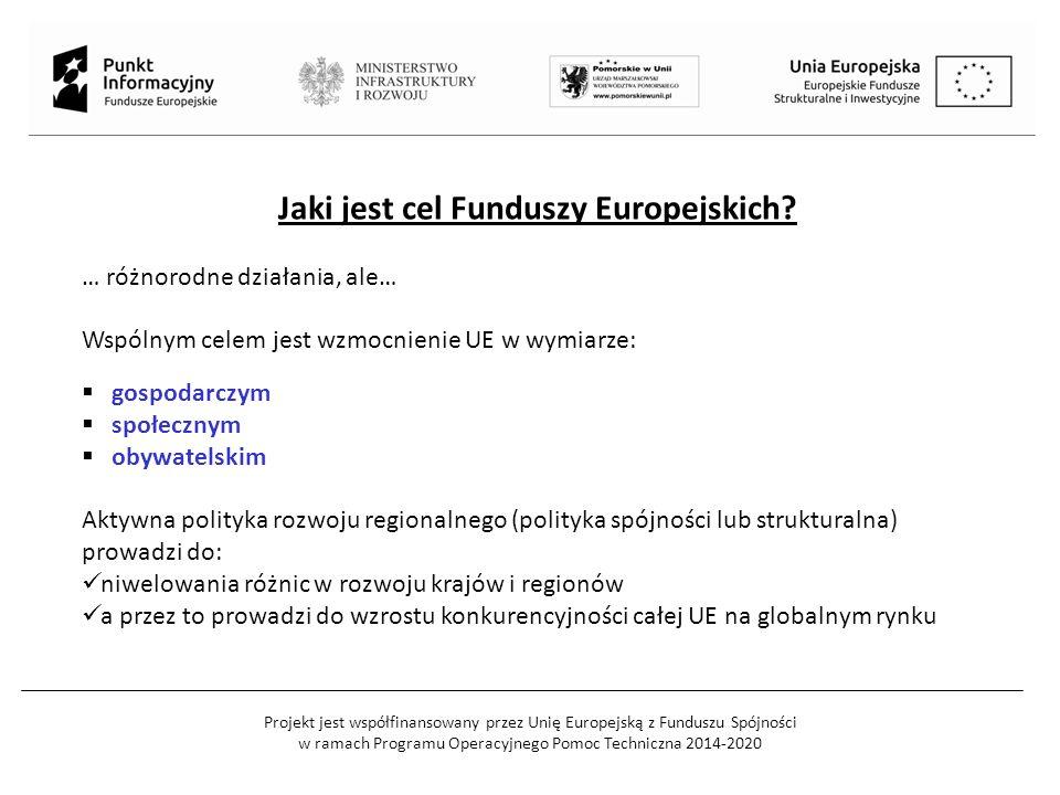Jaki jest cel Funduszy Europejskich.