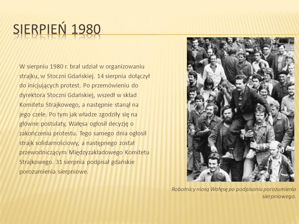W sierpniu 1980 r. brał udział w organizowaniu strajku, w Stoczni Gdańskiej.