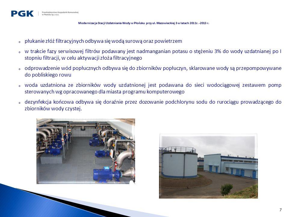 8 Praca urządzeń nowego układu technologicznego uzdatniania wody jest całkowicie zautomatyzowana i nie wymaga stałej obsługi.