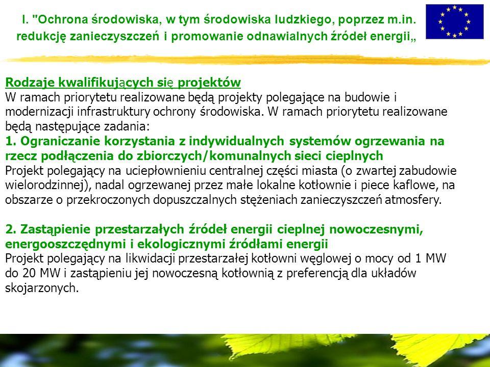 I. Ochrona środowiska, w tym środowiska ludzkiego, poprzez m.in.