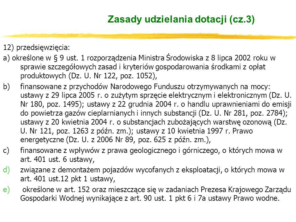 12) przedsięwzięcia: a) określone w § 9 ust.