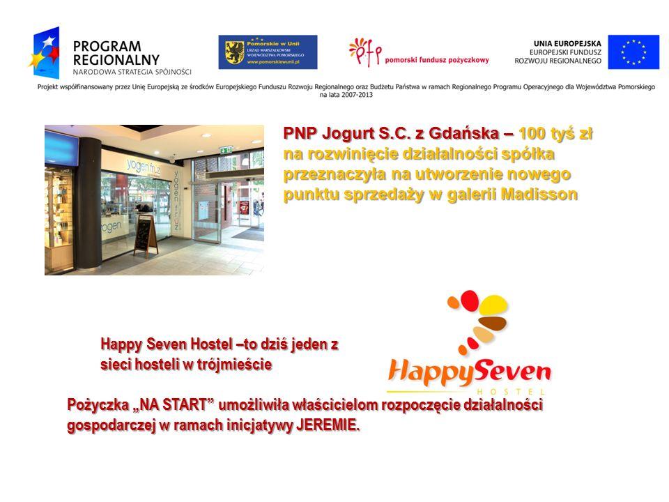 PNP Jogurt S.C. z Gdańska – 100 tyś zł na rozwinięcie działalności spółka przeznaczyła na utworzenie nowego punktu sprzedaży w galerii Madisson Happy