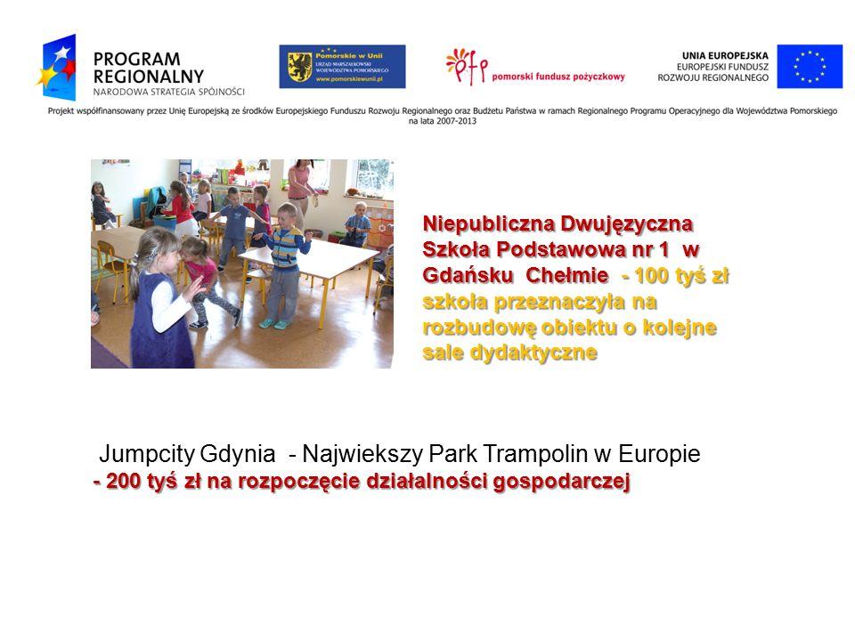 Niepubliczna Dwujęzyczna Szkoła Podstawowa nr 1 w Gdańsku Chełmie - 100 tyś zł szkoła przeznaczyła na rozbudowę obiektu o kolejne sale dydaktyczne Jum