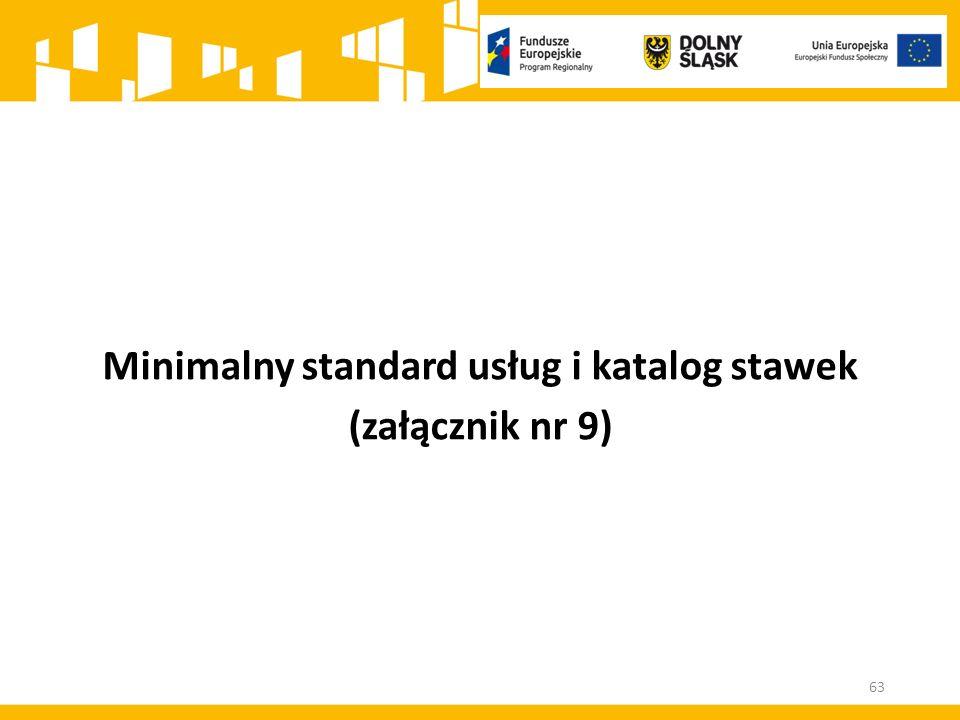 Minimalny standard usług i katalog stawek (załącznik nr 9) 63
