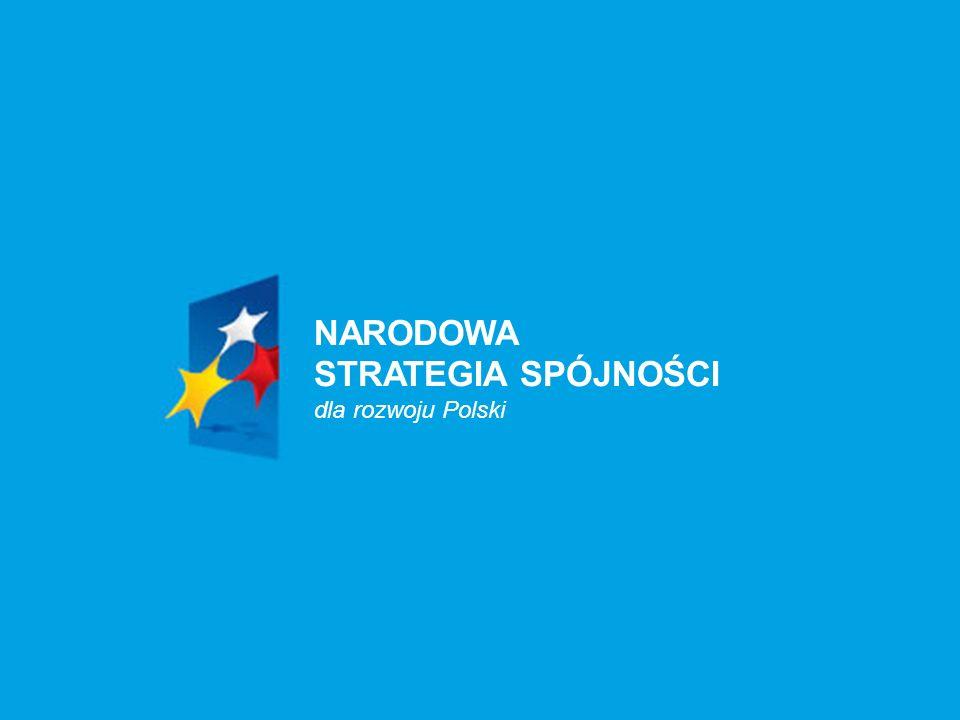 Ministerstwo Rozwoju Regionalnego 2008-03-061 NARODOWA STRATEGIA SPÓJNOŚCI dla rozwoju Polski