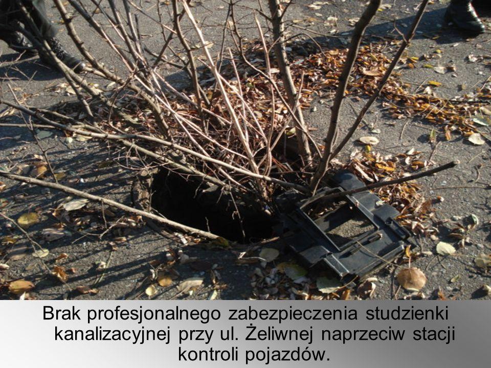 Brak profesjonalnego zabezpieczenia studzienki kanalizacyjnej przy ul.